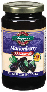 Haggen Marionberry Preserves 18 Oz Jar