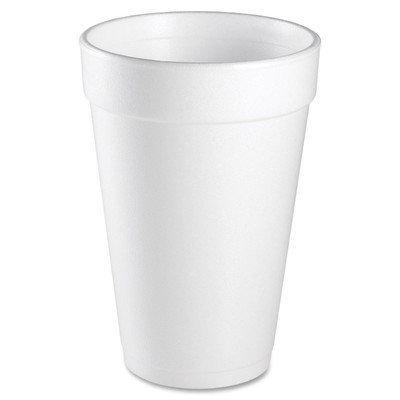 DART CONTAINER CORP 16J16 Insulated Styrofoam Cup 16 oz 1000/CT White