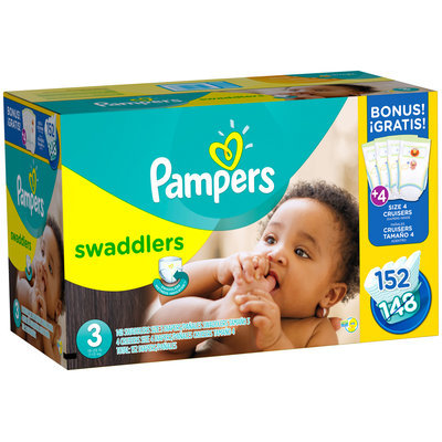 Premium Pampers Swaddlers Size 3 Super Economy Pack 152 Count