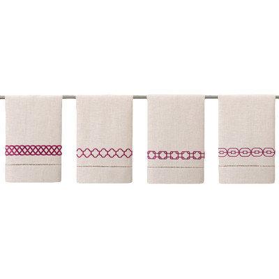 D.l. Rhein Guest Towels (Set of 4) Color: Raspberry