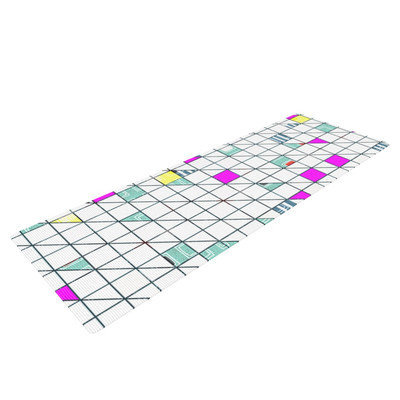 Kess Inhouse Squares by Michelle Drew Abstract Geometry Yoga Mat