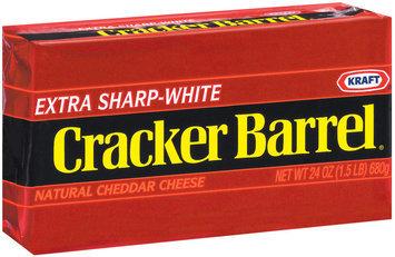 Kraft Cracker Barrel Cheddar Extra Sharp White Cheese 24 Oz Brick