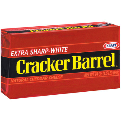 Kraft Cracker Barrel Cheddar Extra Sharp White Cheese 24 Oz Brick