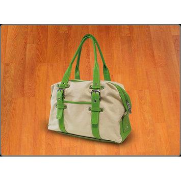 Crescent Moon Tool Bag Color: Natural Green Trim