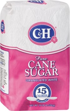 C&H Pure Cane Granulated White Sugar 10 LB BAG