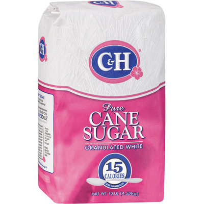 C&H Pure Cane Granulated White Sugar 10 LB BAG