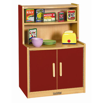 Early Childhood Resource ELR-0745-RD Colorful Essentials Play Cupboard - Red