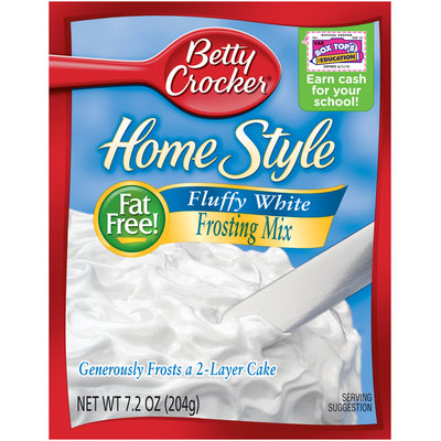 Betty Crocker® Home Style Fluffy White Frosting Mix 7.2 oz. Box