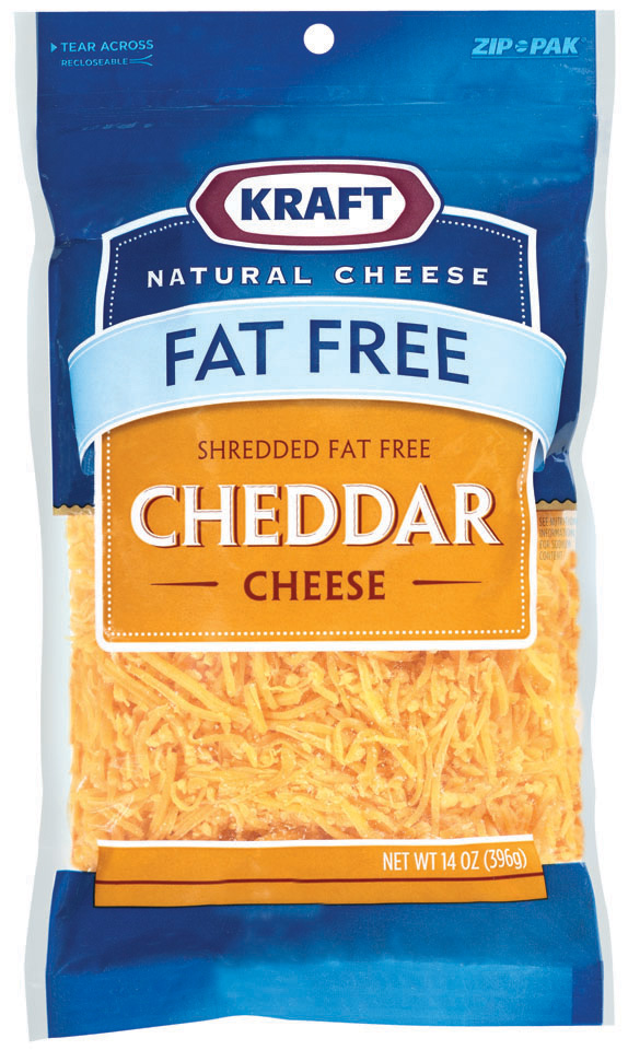 Kraft Natural Cheese Cheddar Fat Free Shredded Cheese 14 Oz Peg