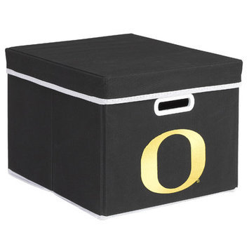 MyOwnersBox College STACKITS University of Oregon 12 in. x 10 in. x 15 in. Stackable Black Fabric Storage Cube 12027003CORG