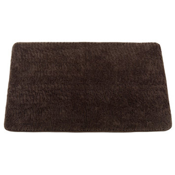 Carnation Home Fashions BM-FF-SAB-13 Sable Brown Faux Fur Bath Mat Size 20 in. x 31 in.