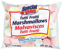 Special Value Tutti Frutti Marshmallows 10 Oz Bag