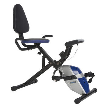 Paradigm Health & Wellness ProGear 190 Compact Space Saver Recumbent Bike with Heart Pulse Sensors