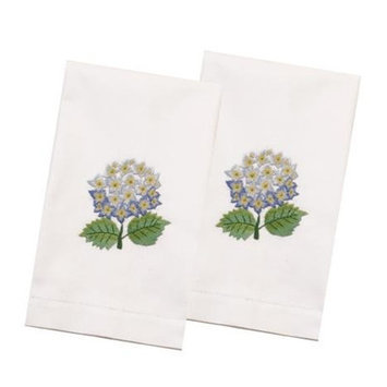 The Designs Of Distinction Hydrangea Hand Towel (Set of 2) Color: Blue