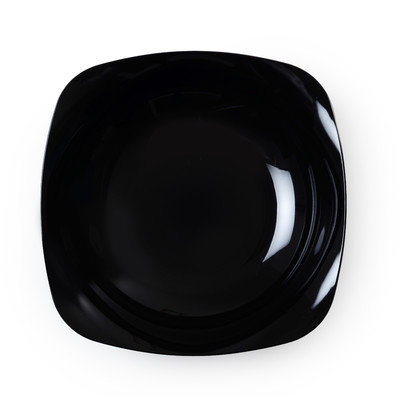 Fineline Settings, Inc Renaissance Rounded Square China-Like Bowls (Pack of 120), Black