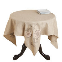 Saro Appliqué and Embroidered Table Topper