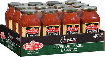 Bertolli® Organic Olive Oil, Basil & Garlic Sauce 4-24 oz. Jars