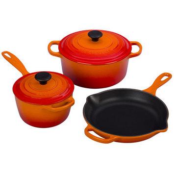 Le Creuset Signature 5-Piece Cookware Set Color: Flame