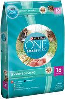 Purina ONE SmartBlend Sensitive Systems Adult Premium Cat Food 16 lb. Bag