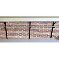 Vitavibe Wall Barre Series Modern Aluminum Double Bar Adjustable Height Ballet Barre Kit Size: 4 ft.