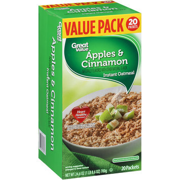 Great Value™ Apples & Cinnamon Instant Oatmeal 24.6 oz. Box
