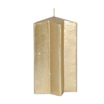 Fantastic Craft Star Pillar Candle Color: Gold, Size: 6