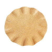 Eziba Curly Gold Placemats (Set of 4)