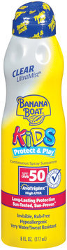 Banana Boat Ultra Mist Clear Continuous SPF 50 Kids Sunblock Spray 6 Fl Oz Aerosol Can
