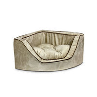 Snoozer Luxury Foam Sided Corner Pet Bed Peat/Coffee, Large