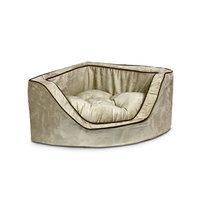 Snoozer Luxury Foam Sided Corner Pet Bed Peat/Coffee, Large