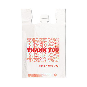 Barnes Paper Company Plastic Thank You T-Sacks (Carton of 2,000)
