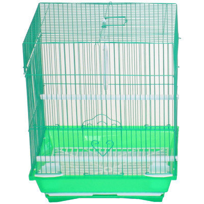 Yml Flat Top Small Parakeet Cage with Food Access Door Color: Green