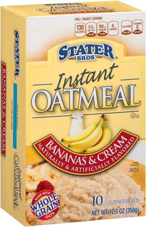 Stater bros® Bananas & Cream Instant Oatmeal 1 Packets