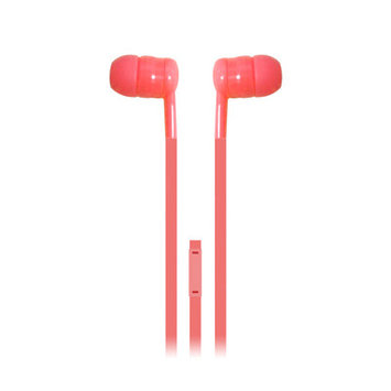 Iessentials Earbuds Headphones with Mic Color: Red