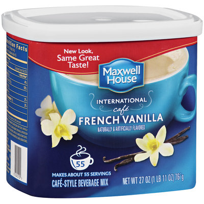 Maxwell House International Cafe French Vanilla Cafe-Style Beverage Mix 27 oz Tub