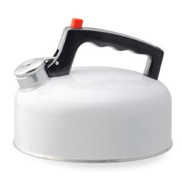 Kamenstein 5073170 2 Quart Aluminum Whist Tea Kettle - White