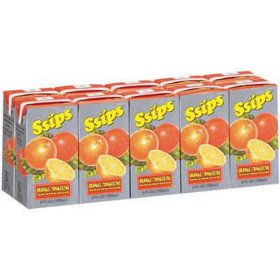 Ssips® Orange-Tangerine Drink 10-6 oz Cartons
