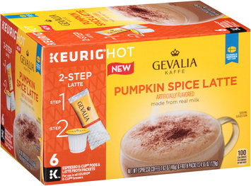 Gevalia Pumpkin Spice Latte Espresso K-Cup® Pods & Latte Froth Packets 6 ct Box