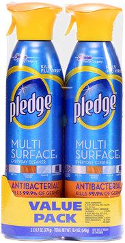 Pledge® Fresh Citrus Multi Surface Antibacterial Everyday Cleaner & Disinfectant 2-9.7 oz. Aerosol Cans