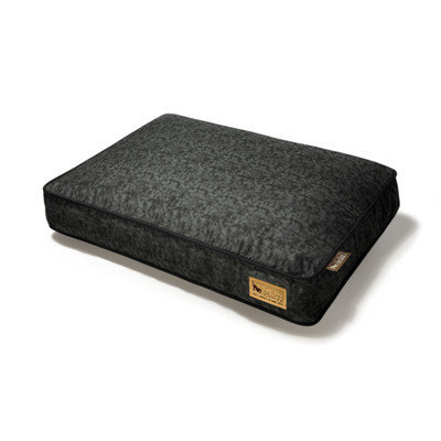 PLAY Frolic Mystic Black Rectangle Dog Bed Medium