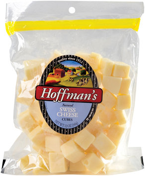 Hoffman's Natural Swiss Cheese Snack Cubes  12 Oz Peg