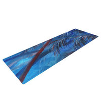 Kess Inhouse Red White Tropical by Rosie Brown Yoga Mat