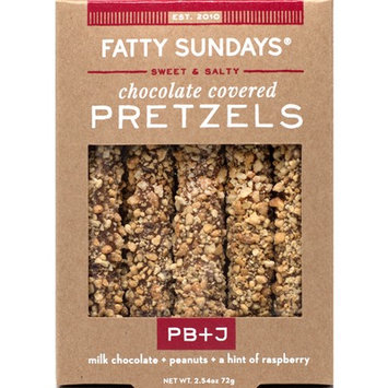 Fatty Sundays PB+J Milk Chocolate Covered Pretzels