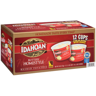 Idahoan® Buttery Homestyle Microwavable Mashed Potatoes 12-1.5 oz. Microcups