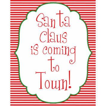Secretly Designed Santa Coming to Town Art Print