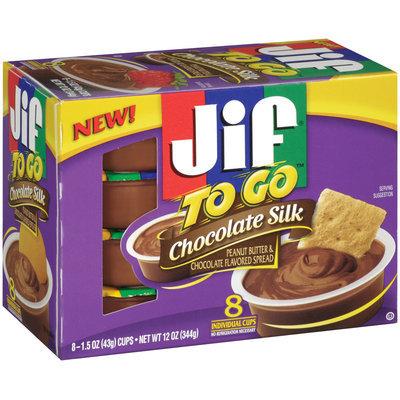 Jif® To Go™ Chocolate Silk Spread 1.5 oz 8 ct