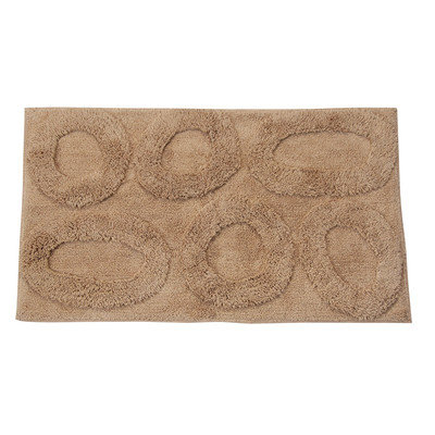 Textile Decor Castle 100% Cotton Pebble Spray Latex Back Bath Rug, 40 H X 24 W, Taupe