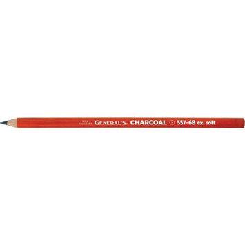 Alvin & Company Alvin 557G-6B General Charcoal Pencil Black
