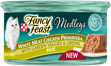 Purina Fancy Feast Medleys White Meat Chicken Primavera Pate Cat Food 3 oz. Can