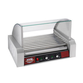 Dtx International 4093 GNP 9 Roller with Cover MAD DAWG Commercial Nine Roller Hot Dog Machine With Cover